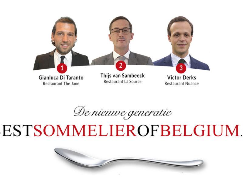 De beste sommeliers van Vlaanderen 2018